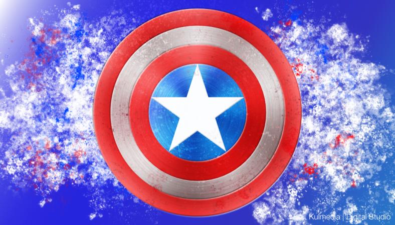 Kulmedia Digital Studio Illustration Digital Art Captain America Shield