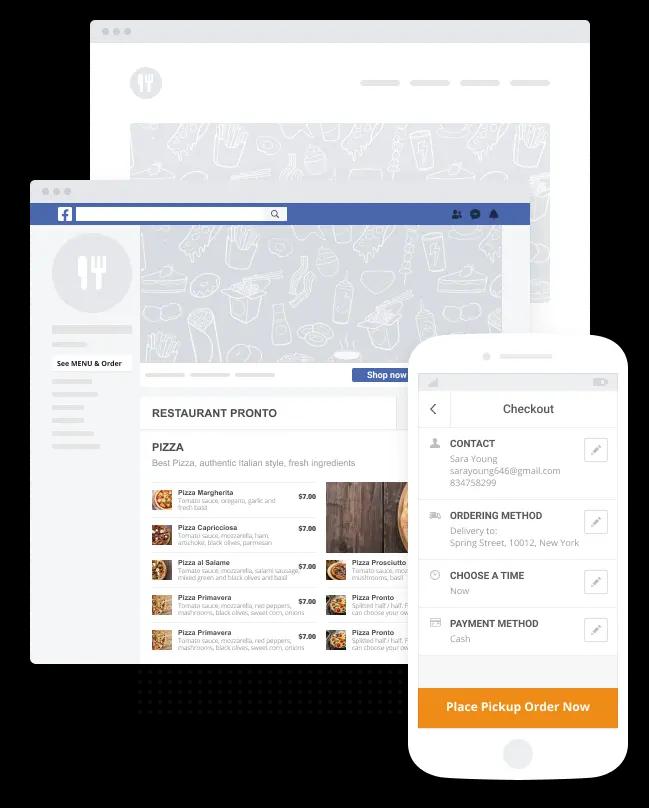On Digital Shop Order system on Facebook
