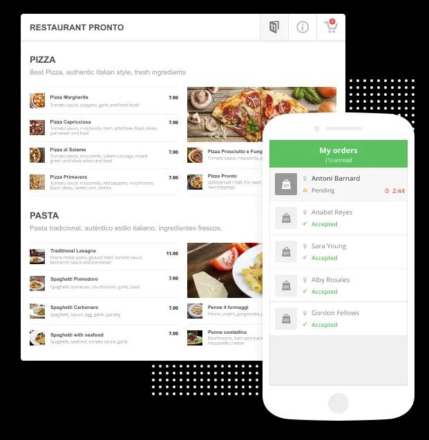On Digital shop food ordering system