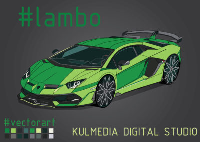 Kulmedia Digital Studio Illustration Digital Art Lambo