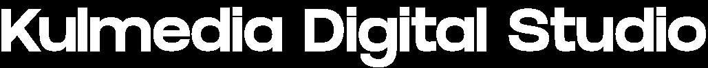 Kulmedia Digital Studio Logo 2021 - White